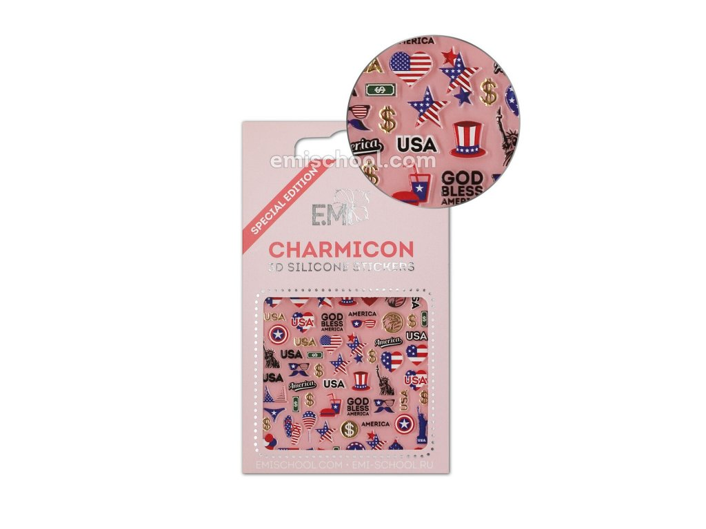 Charmicon 3D Silicone Stickers USA