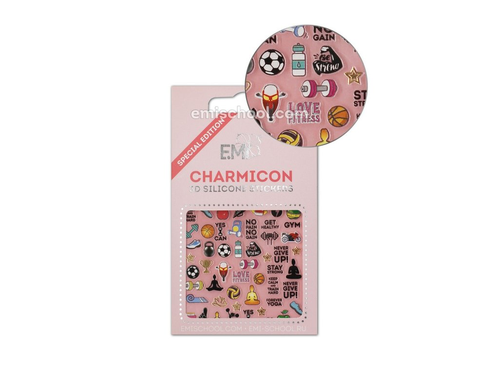 Charmicon 3D Silicone Stickers Sports