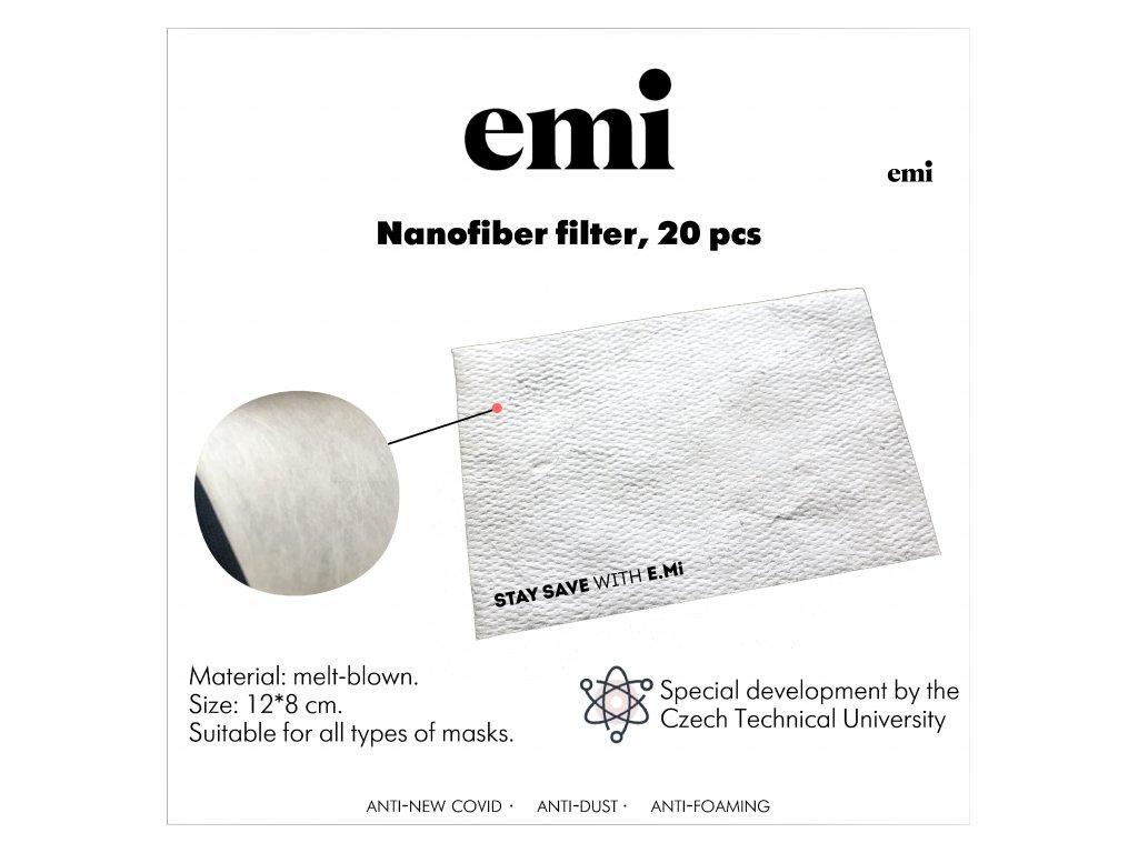 Nanofiber filter, 20 pcs