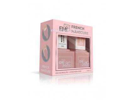 Sada E.MiLac French manicure 2x9 ml.