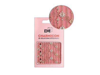 Charmicon 3D Silicone Stickers #154 Floral Art