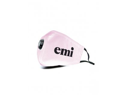 Respirační maska růžová, logo emi