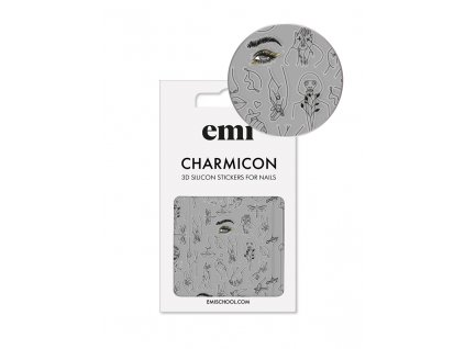 Charmicon 3D Silicone Stickers #173 Silhouettes