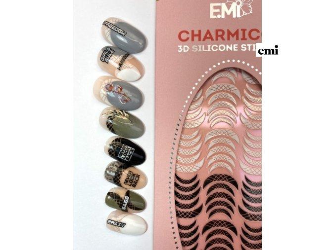 Charmicon 3D Silicone Stickers Lunula #14 Black/White
