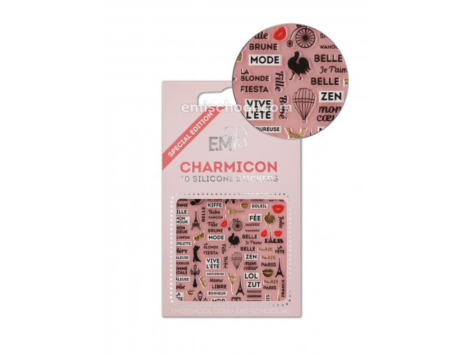 Charmicon 3D Silicone Stickers France 2