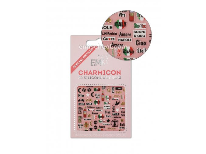 Charmicon 3D Silicone Stickers Italy 1