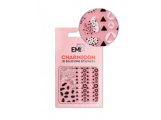 Charmicon 3D Silicone Stickers #120 Geometric Patterns