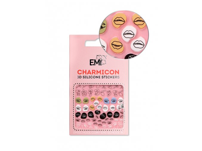 Charmicon 3D Silicone Stickers #125 Lips & Eyes