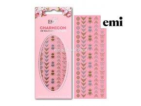 Charmicon 3D Silicone Stickers Lunula MIX  #6 Gold/Silver
