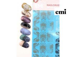 NAILCRUST šablony-slidery zlatý/béžový/bílý/černý #3