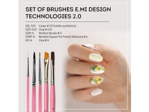 Set of brushes E.Mi Design technologies 2.0