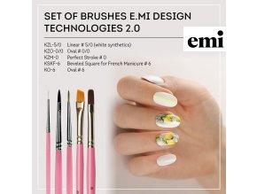 Set of brushes E.Mi Design technologies 2.0