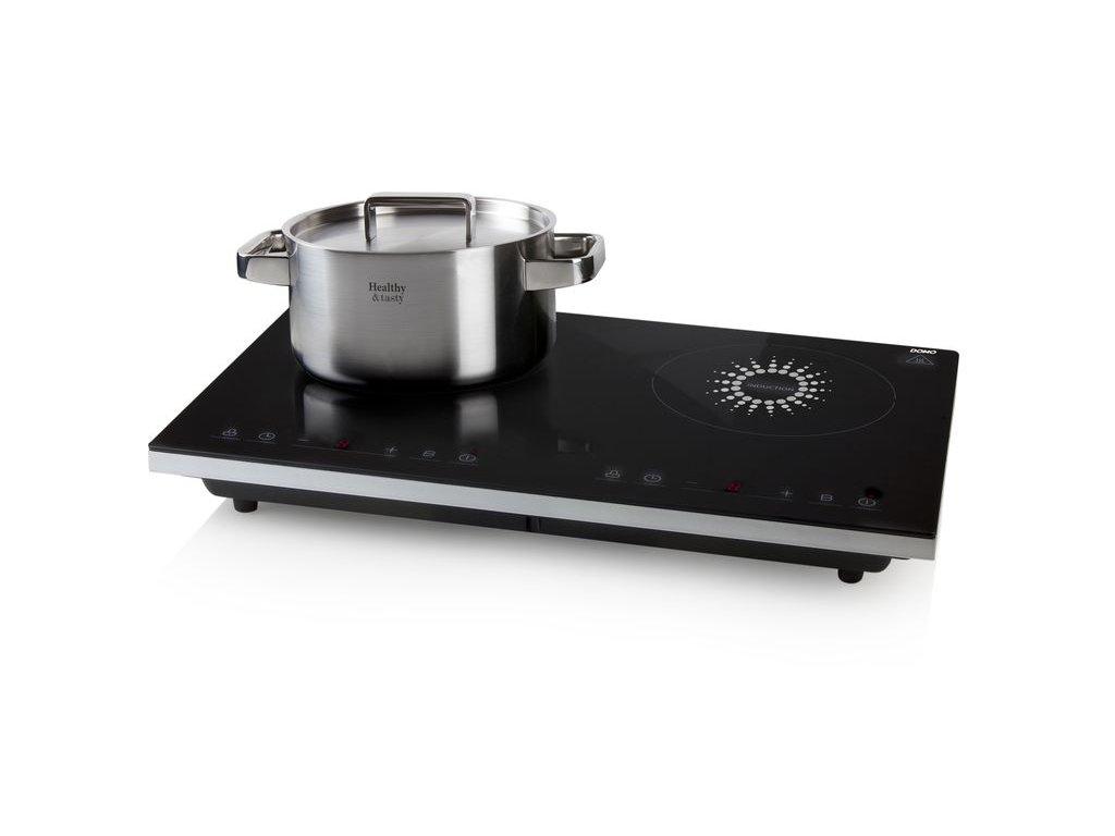 Indukční vařič dvouplotýnkový - DOMO DO326IP