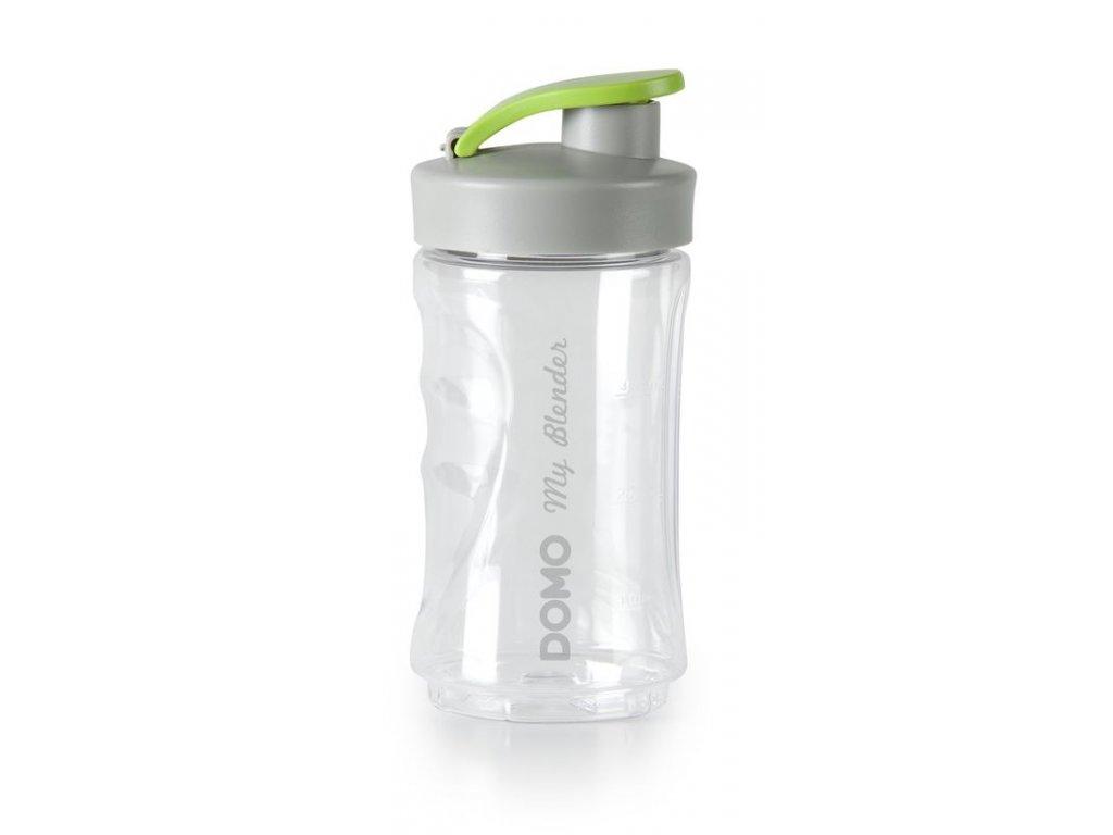 Malá láhev smoothie mixérů DOMO - transparentní s logem, 300 ml