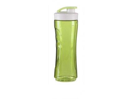 Láhev na smoothie DOMO - transparentní zelená 600 ml