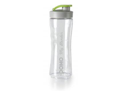 Velká láhev smoothie mixérů DOMO - transparentní s logem, 600 ml