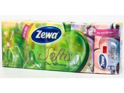 Zewa Softis Cotton kapesníky 4-vrstvé Multipack 10x9ks