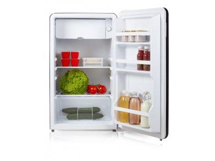Retro lednice s mrazící přihrádkou - černá - DOMO DO988RKZ, Objem: 93 l, Třída: F