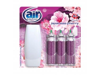 Air Menline Japanese Cherry Happy Osvěžovač vzduchu + náplně 3 x 15 ml