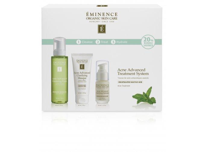 Eminence Organics Acne Advanced Treatment System box front USD