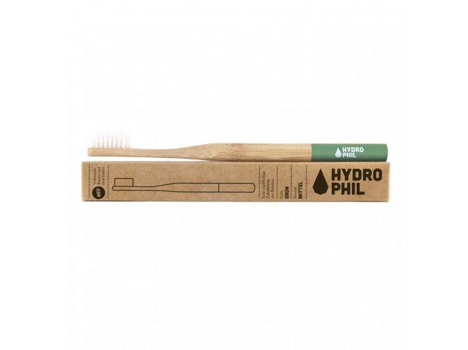 Hydrophyl Bambusový kartáček medium green