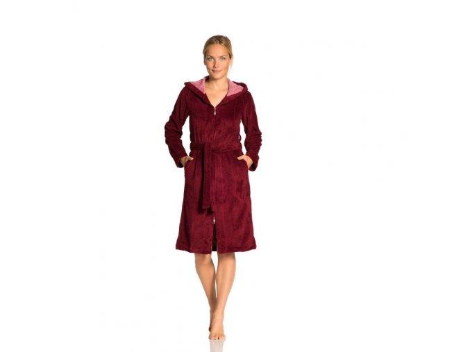 1415713234 Vossen Bademantel Palermo burgundy XS