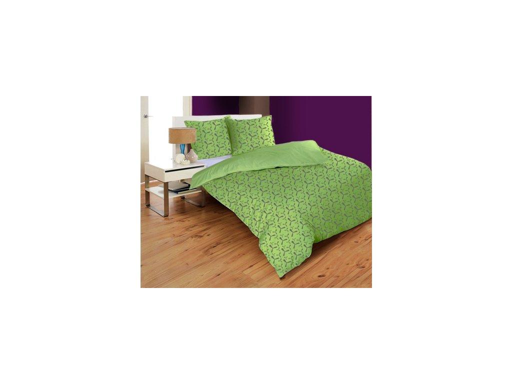 Obliečky mikrovlákno PROPELLER GREEN   140x200 70x90 cm