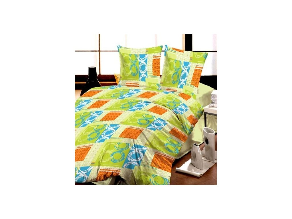 Krepové obliečky PALERMO GREEN | 140x200 70x90 cm