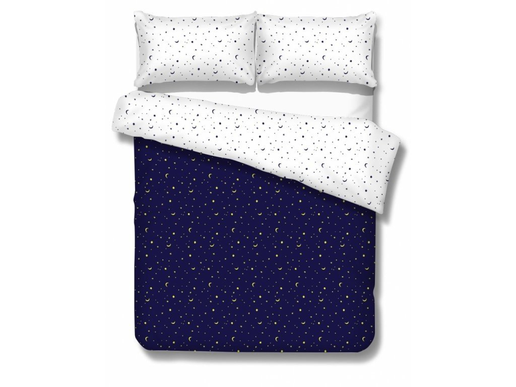 bavlnené obliečky s hviezdičkami na nočnej oblohe