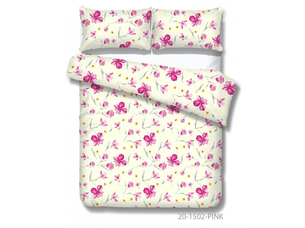 bavlnené obliečky Xénia s kvetmi