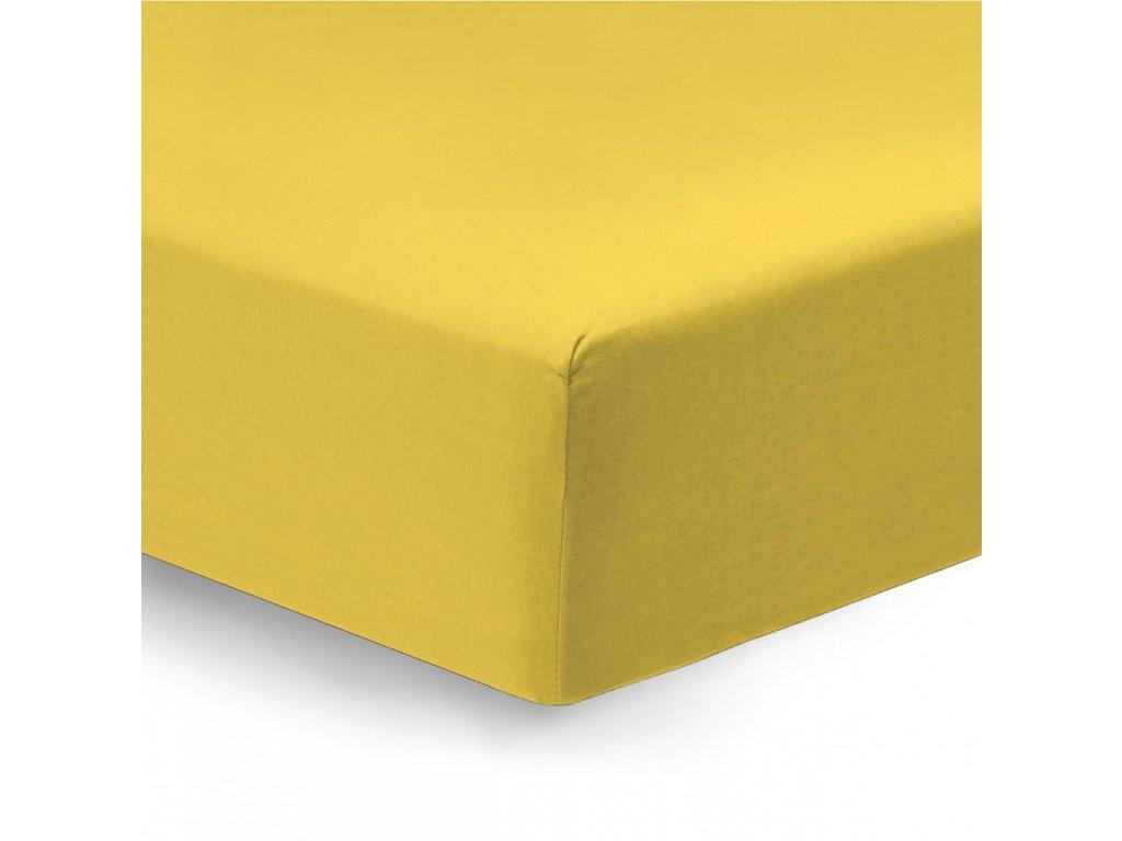 napínacie prestieradlo Satén žltý detail
