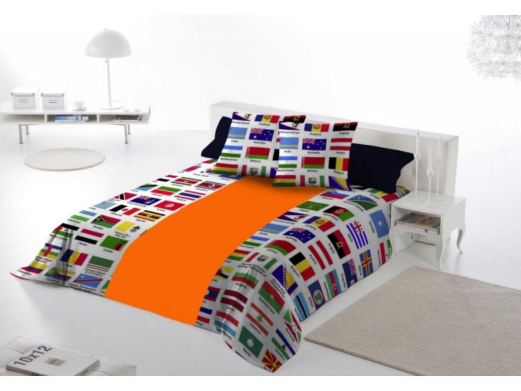 bavlnene obliecky s vlajkami
