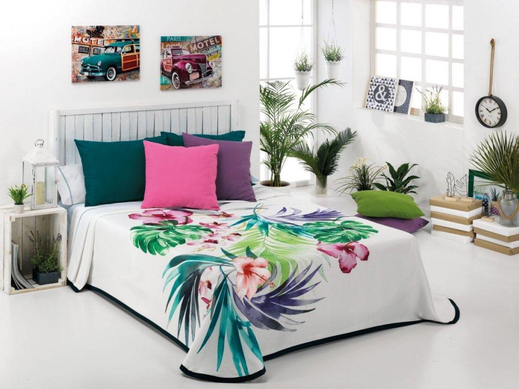 Kvetinový prehoz vo veselých farbách Bursa