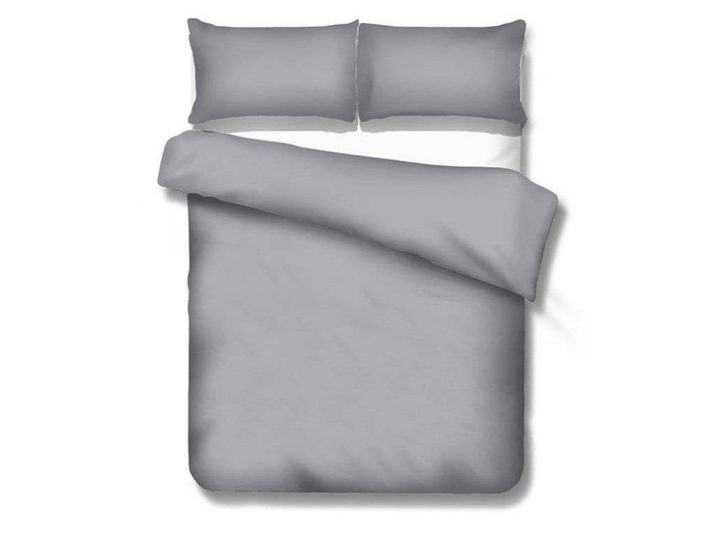 Jednofarebné saténové obliečky 140x200 cm Satén grey