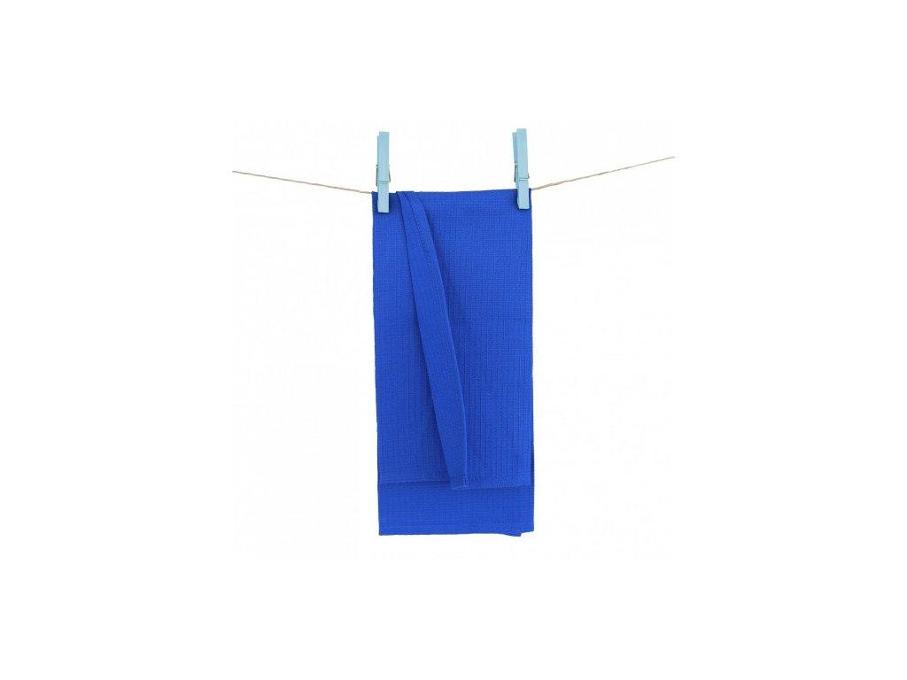 modré vaflové utierky