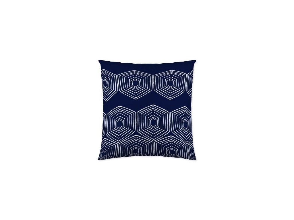 vankúš s ornamentami s modrej farbe Oceania