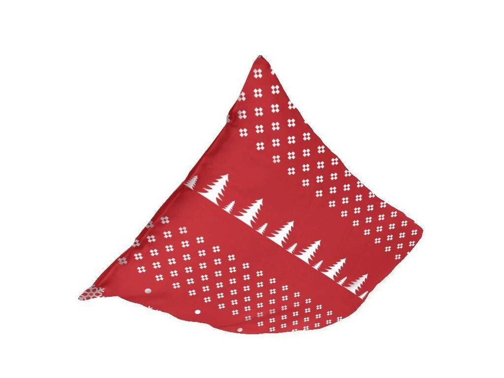 flanelová obliečka 45x45 cm Norway, farba červená