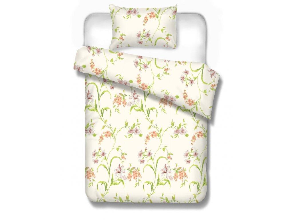 bavlnené obliečky Alea 70x90, 140x200 cm s kvetmi
