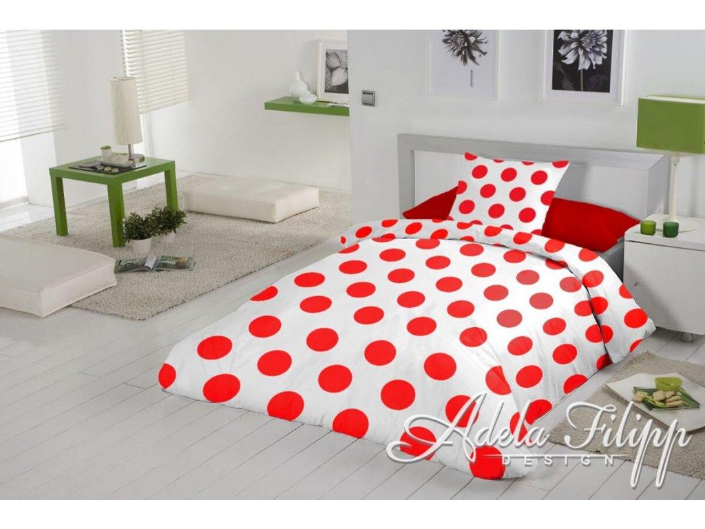 bavlnené obliečky s červenými bodkami Granko