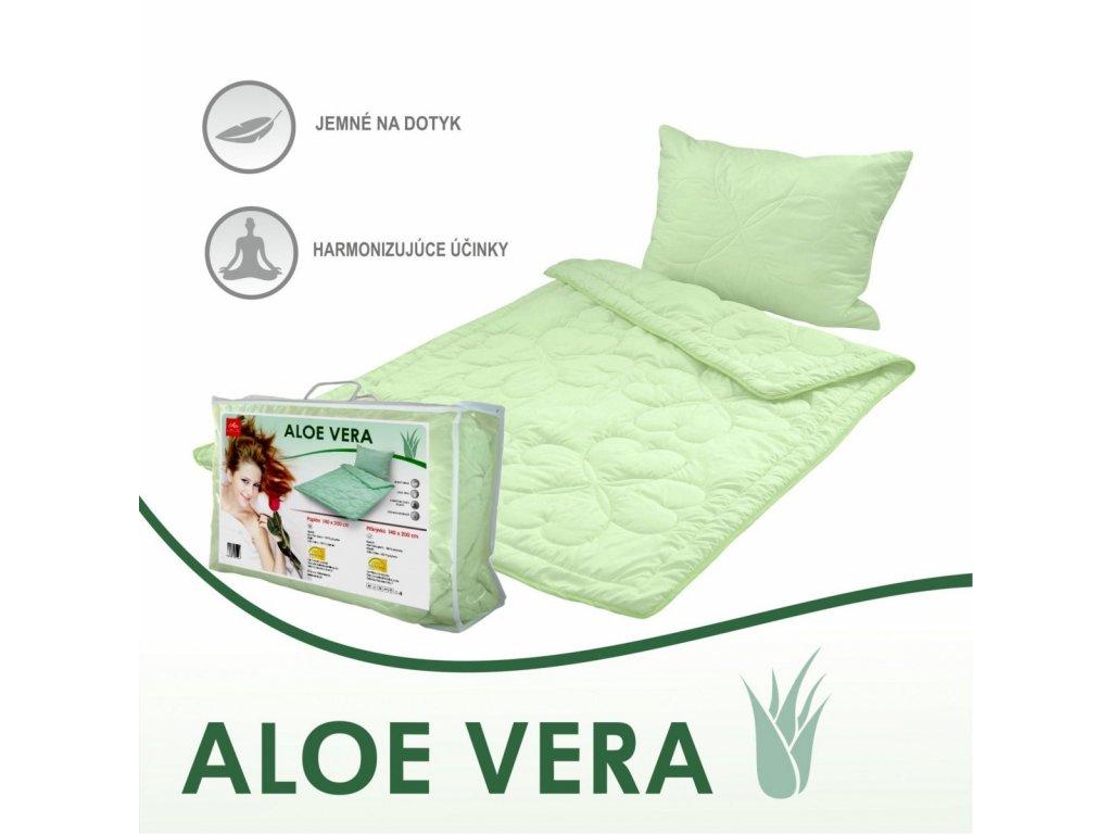 paplón a vankúš Aloe Vera green set