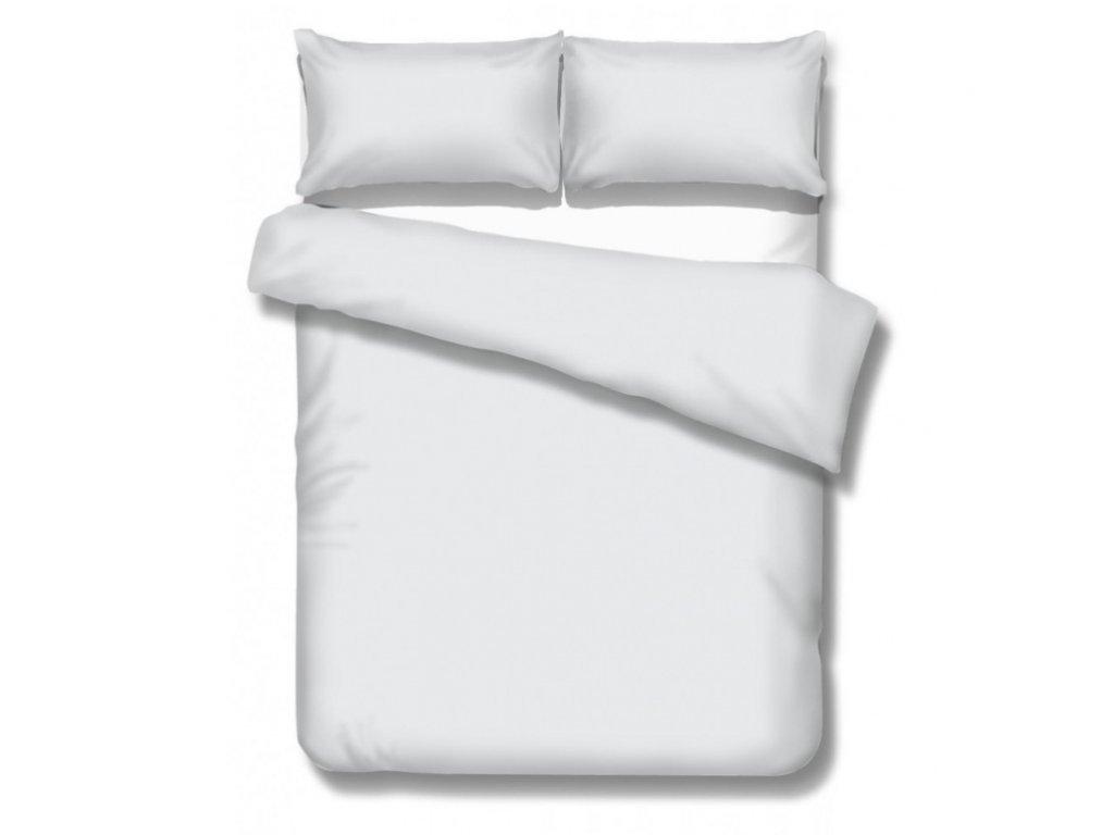 predĺžené saténové obliečky v bielej farbe