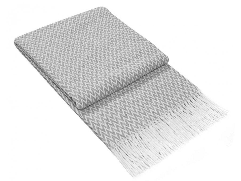 bavlnená deka Ibiza sivá 140x200 cm