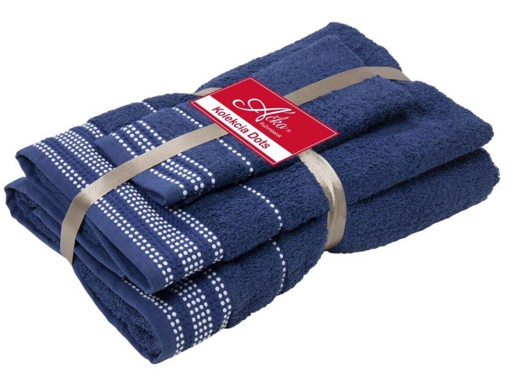 uteráky a osušky Dots night blue