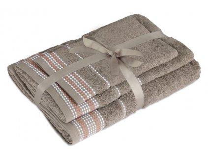 uteráky a osušky Dots almond