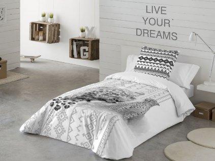 obliečky čierno-biele Gepard