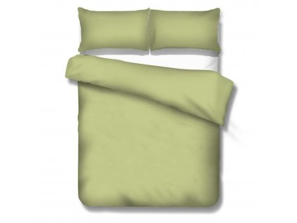 jednofarebné saténové obliečky Satén olive
