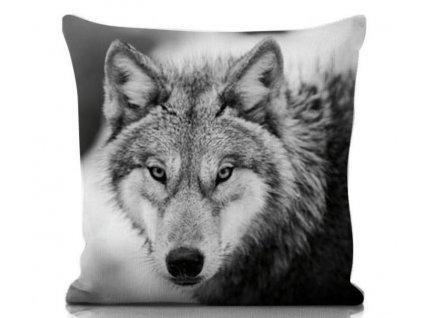 dwekoračný vankúš s motívom vlka