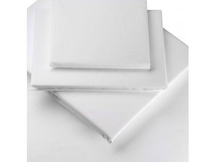 Prestieradlá bavlnené biele