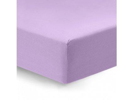 napínacie prestieradlo Satén fialový detail