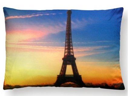 dekoračný vankúš s Eifelovou vežou